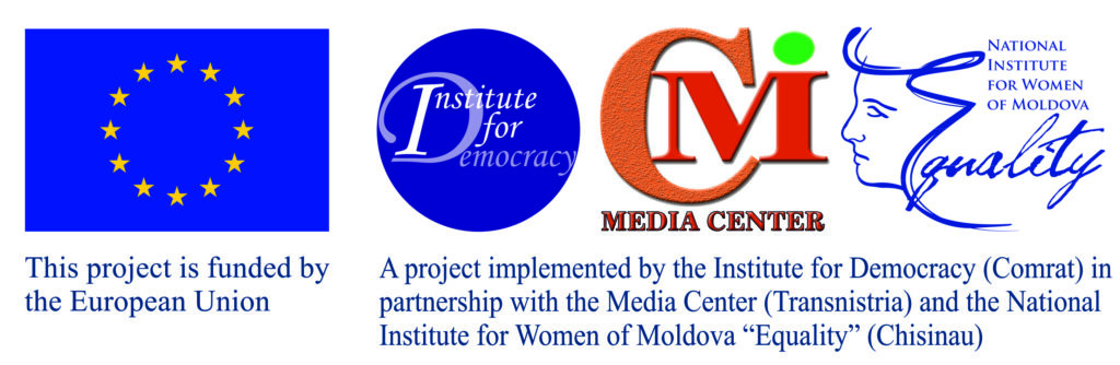 """This activity is part of the project """"Reshaping the anti-torture narrative in Moldova"""" conducted by HomoDiversus within the framework of the project """"Let All of Us Say NO to Torture in Moldova: Civil Society against Torture"""". The project """"Let All of Us Say NO to Torture in Moldova: Civil Society against Torture"""" is funded by the European Union and implemented by the Institute for Democracy in partnership with the Media Center from Transnistria and the National Institute for Women of Moldova. The contents of this activity are the sole responsibility of HomoDiversus and can in no way be taken to reflect the views of the European Union and the Institute for Democracy"""